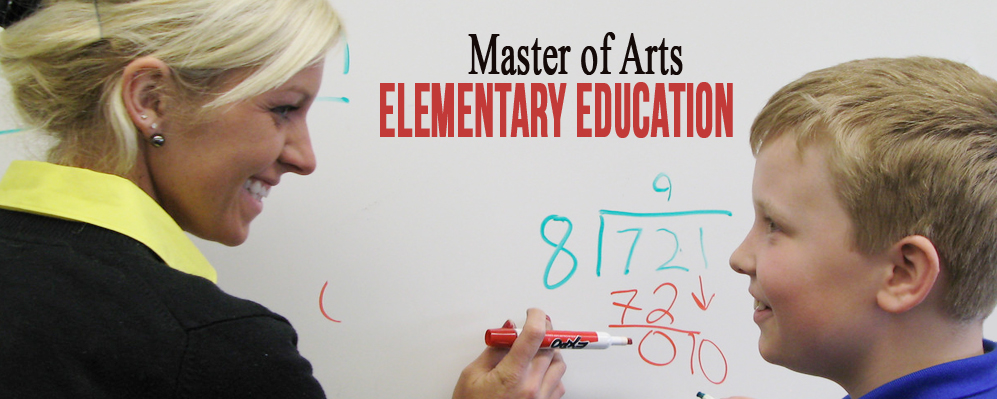 Picture of Master of Arts Elementary Education